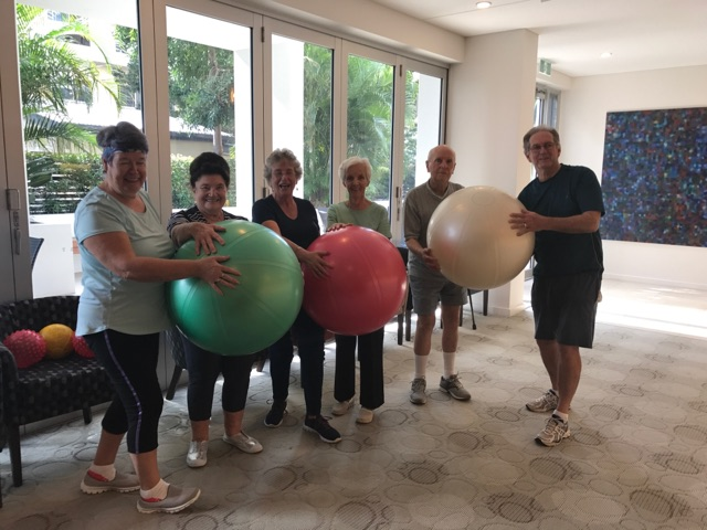 Serene Residents Fitball Fun! Over 50's Fitness