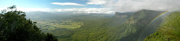 Tweed Valley from the Border Ranges National Park