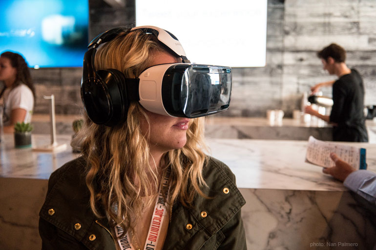 Girl in VR headset