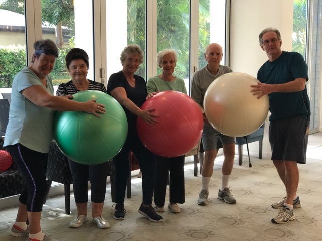 Fitball Fun at Serene Living